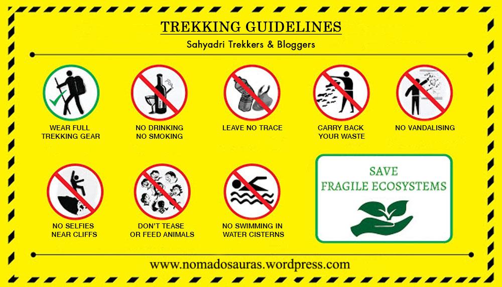 trekking guidelines for sahyadri